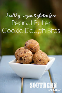 Healthy Gluten Free Peanut Butter Cookie Dough Bliss Balls Recipe Vegan