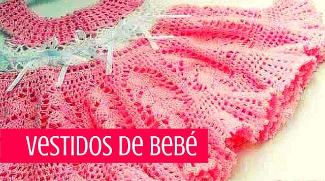 Colección de Vestidos de Bebé a Crochet recopilados de la Web