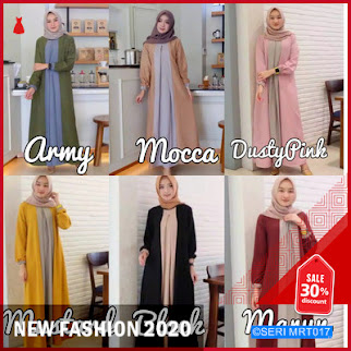 MRT017Z201 Zoe Basic Long Dress Terbaru BMGShop