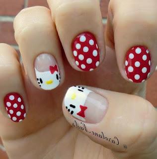 Gambar Nail Art Hello Kitty yang Cantik 7