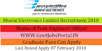 Bharat Electronics Limited Recruitment 2018– 40 Engineer