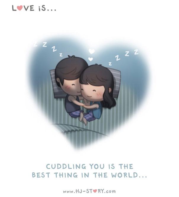 Marido demonstra sua paixão por sua esposa em 5 anos com adoráveis ilustrações