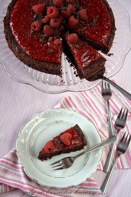 Ciasto malinowo czekoladowe bez dodatku mąki