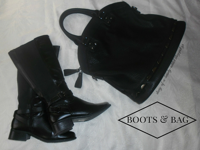 Black Boots & Gallery Accessories Black Bag