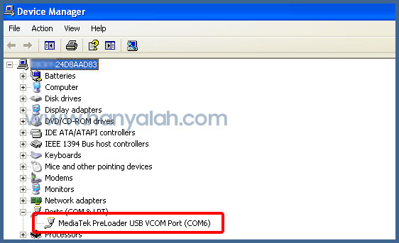 MediaTek PreLoader USB VCOM Port