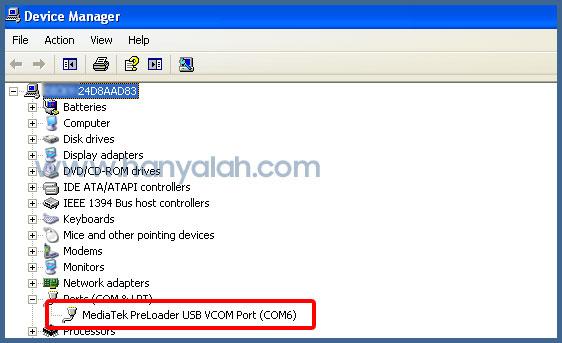 MediaTek PreLoader USB VCOM Port