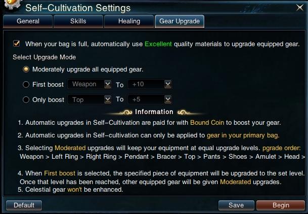 Swordsman Online Self Cultivation: Gear Upgrade