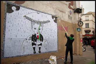 Street Art : Le service de salubrité, brigade anti-affichage du XXème veut faire taire Fred le Chevalier