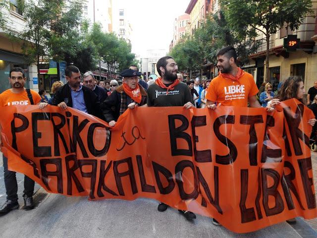 Manifestación de Libre contra los juicios políticos