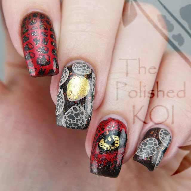 Night Owl Lacquer Dragons Harry Potter nail art