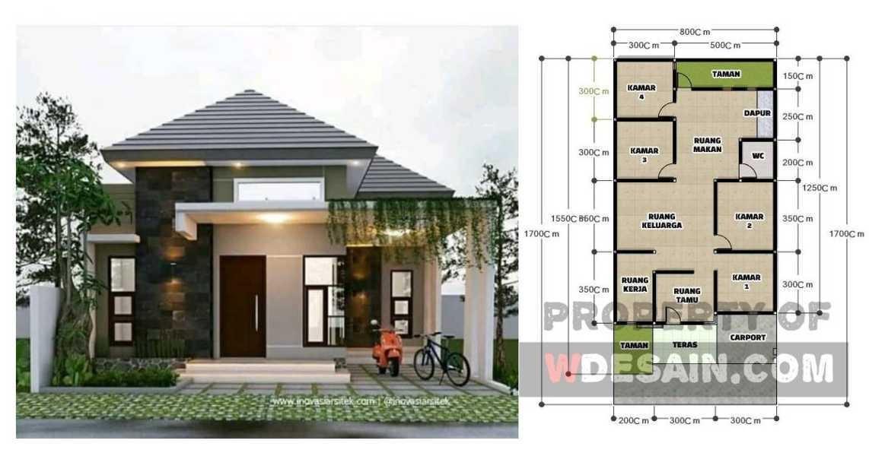 Denah Rumah 4 Kamar 1 Lantai Desain Rumah Minimalis