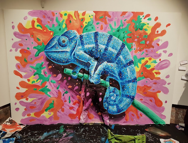Ben Heine Art - Flesh and Acrylic - Art Truc Troc - Bozar Bruxelles - Live Performance - Chameleon 2017