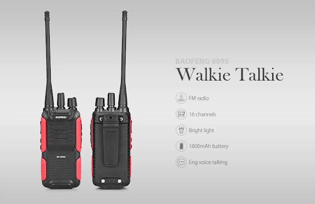 Coupon BAOFENG 999S Portable Wireless Handheld Walkie Talkie