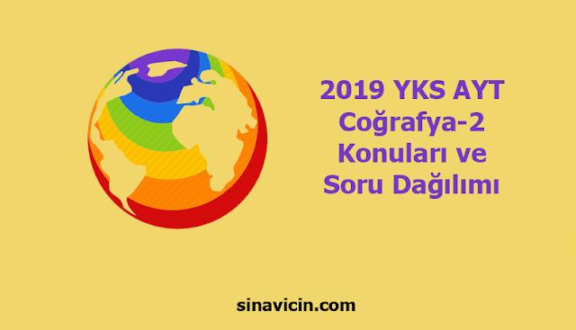 2019 YKS AYT Coğrafya-2 Konuları ve Soru Dağılımı