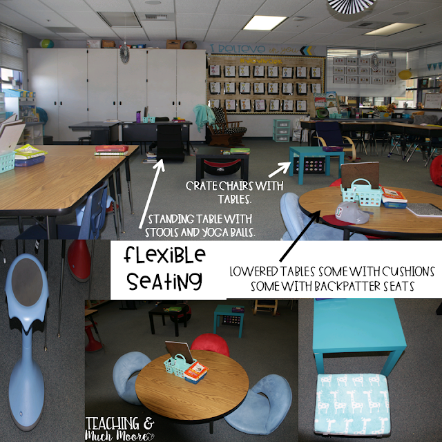 flexible seating classroom tour, classroom reveal, classroom decor and set up, plus flexible seating in the classroom