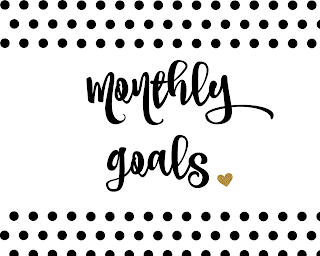 Monthly Goals + November Book Review - My Glittery Heart