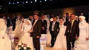 زفاف جماعي خيري للسوريين والعرب