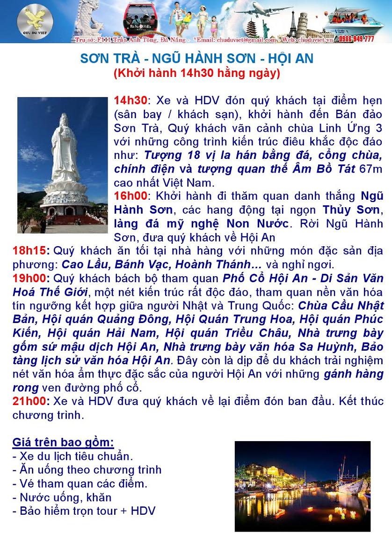 Du lịch Sơn Trà - Ngũ Hành Sơn - Hội An