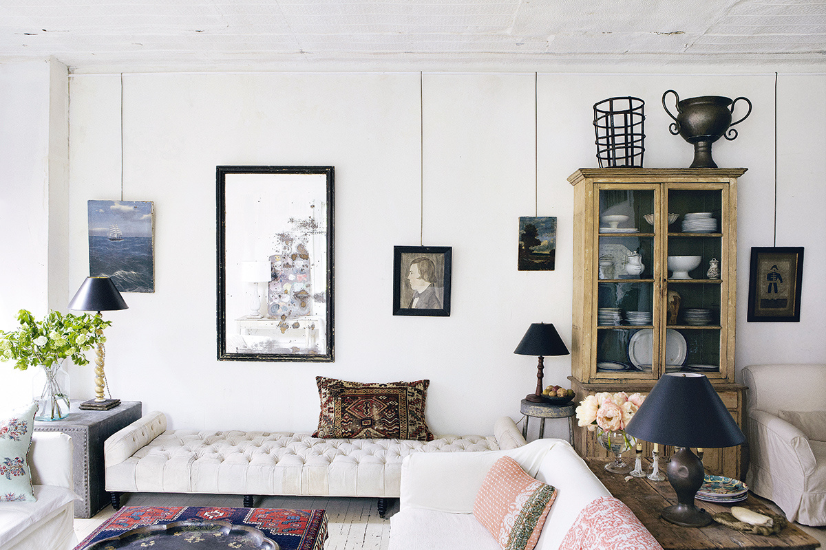 interior design with a rustic charm and bohemian style