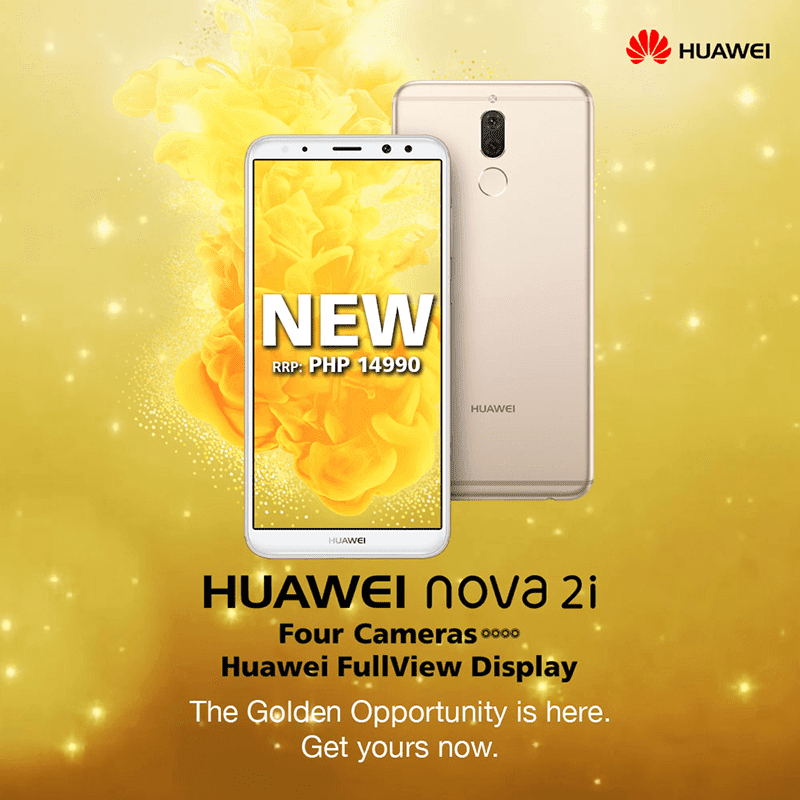 Huawei Nova 2i in Prestige Gold is now available in the Philippines!
