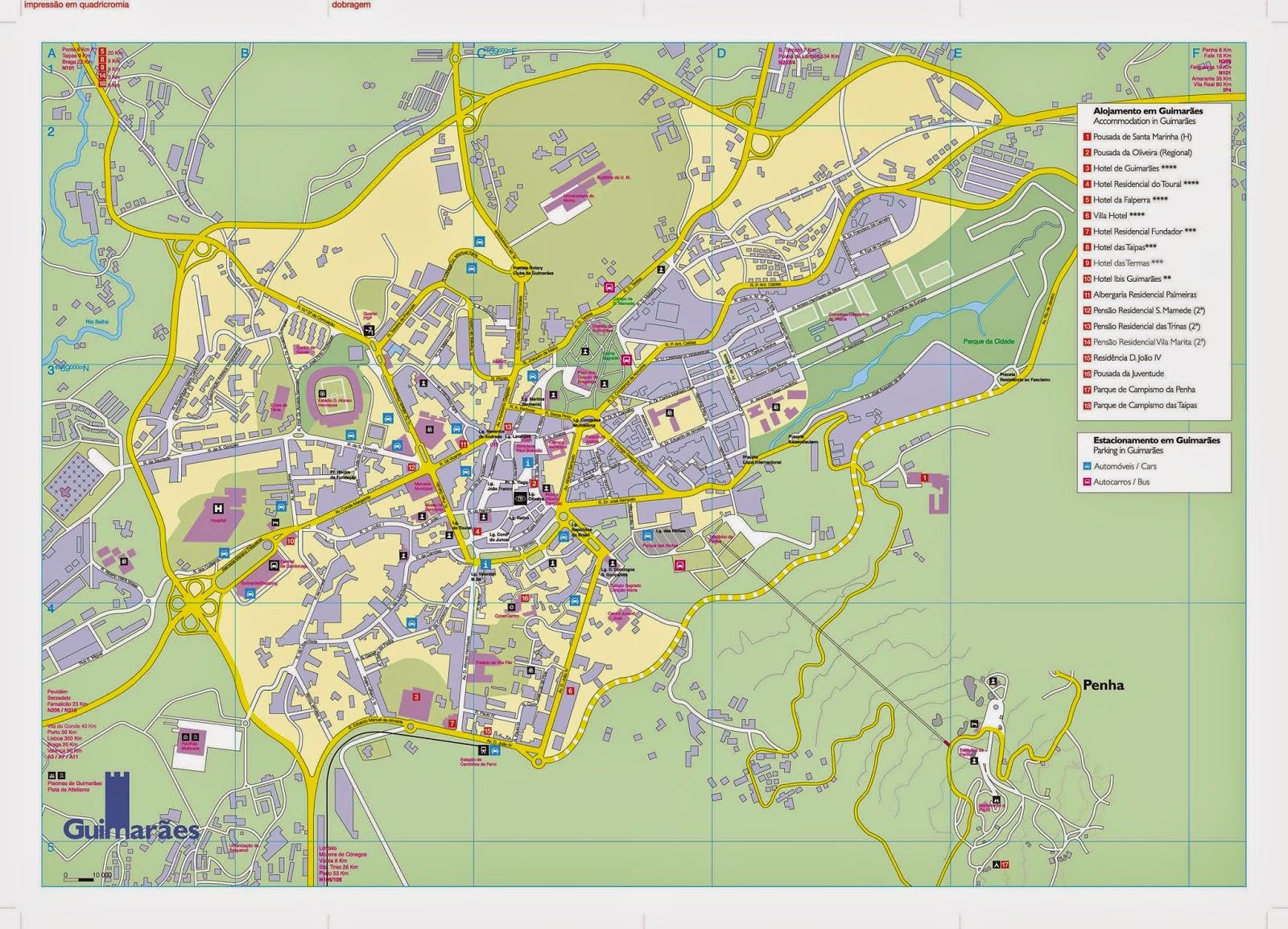 mapa de guimaraes portugal Mapas de Guimarães   Portugal | MapasBlog mapa de guimaraes portugal
