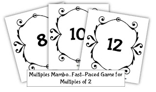 Classroom Freebies: Card Game for Practicing Multiples