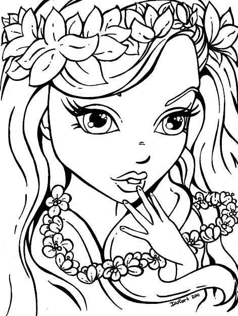Amazing Cool Printable Coloring Pages For Girls Has Coloring Pages For Teens  At