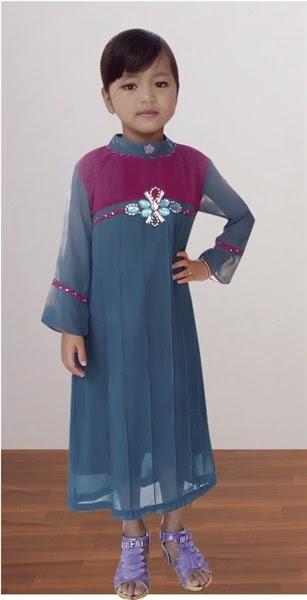 Baju Muslim Anak Perempuan Model Gamis - Danitailor
