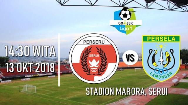Prediksi GO-JEK LIGA 1 INDONESIA Perseru Serui vs Persela Lamongan 13 Oktober 2018 Pukul 13.30 WIB