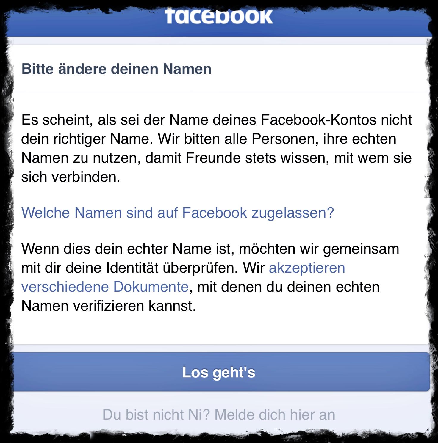 Die Facebook Klarnamenpflicht Wer Bin Ich Alles Was Recht Ist