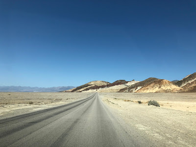 Badwater Rd Heading North Toward Furnace Creek