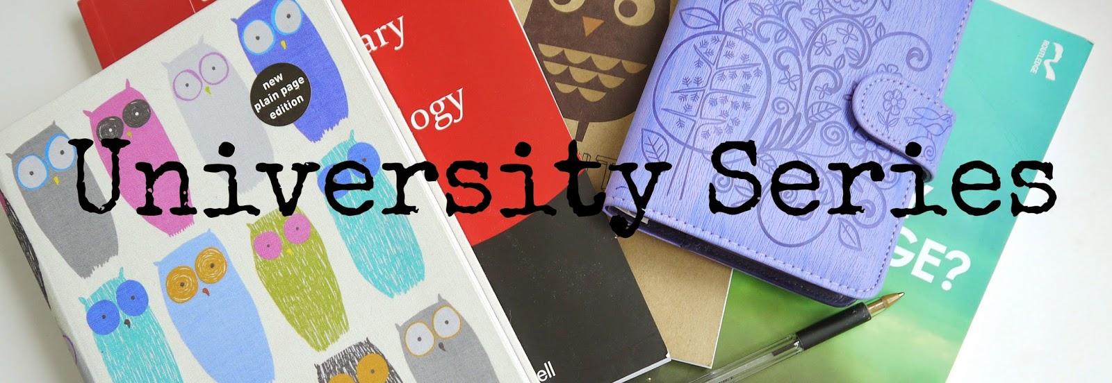 University blog series