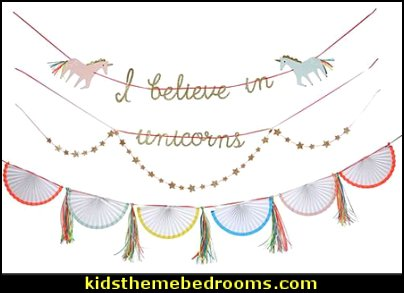 Unicorn Large Garland Kit  unicorn party supplies - rainbow unicorn party decorations - unicorn birthday party - Unicorn Themed Party -  Unicorn Balloons  -  unicorrn cupcakes - rainbow decorations - Unicorn  Garlands - sequin tablecloth - tutu table skirt -