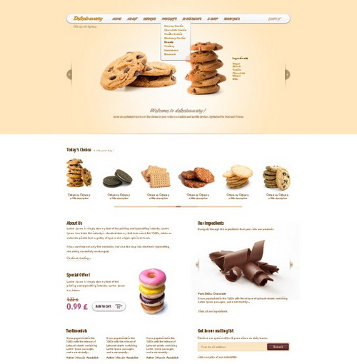 Cookies Website Theme