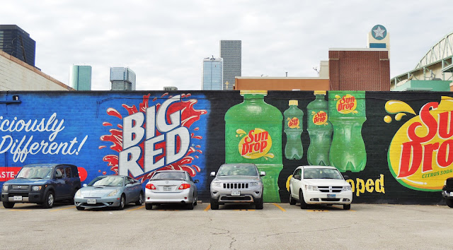 BIG RED MURAL AT MINUTE MAID PARK (Hamilton Street)