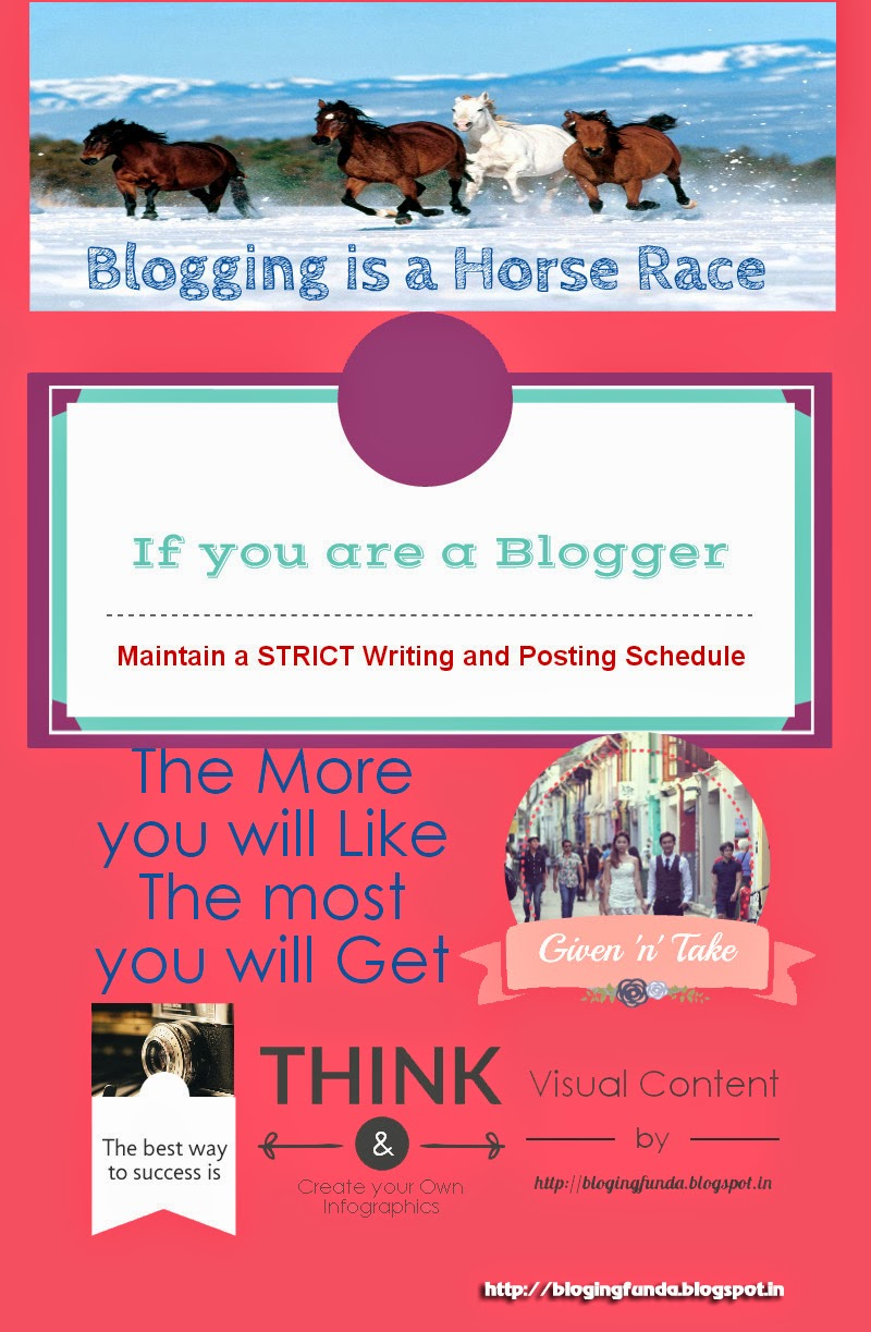 Blogging is a Horse Race by BlogingFunda - A Community of Bloggers