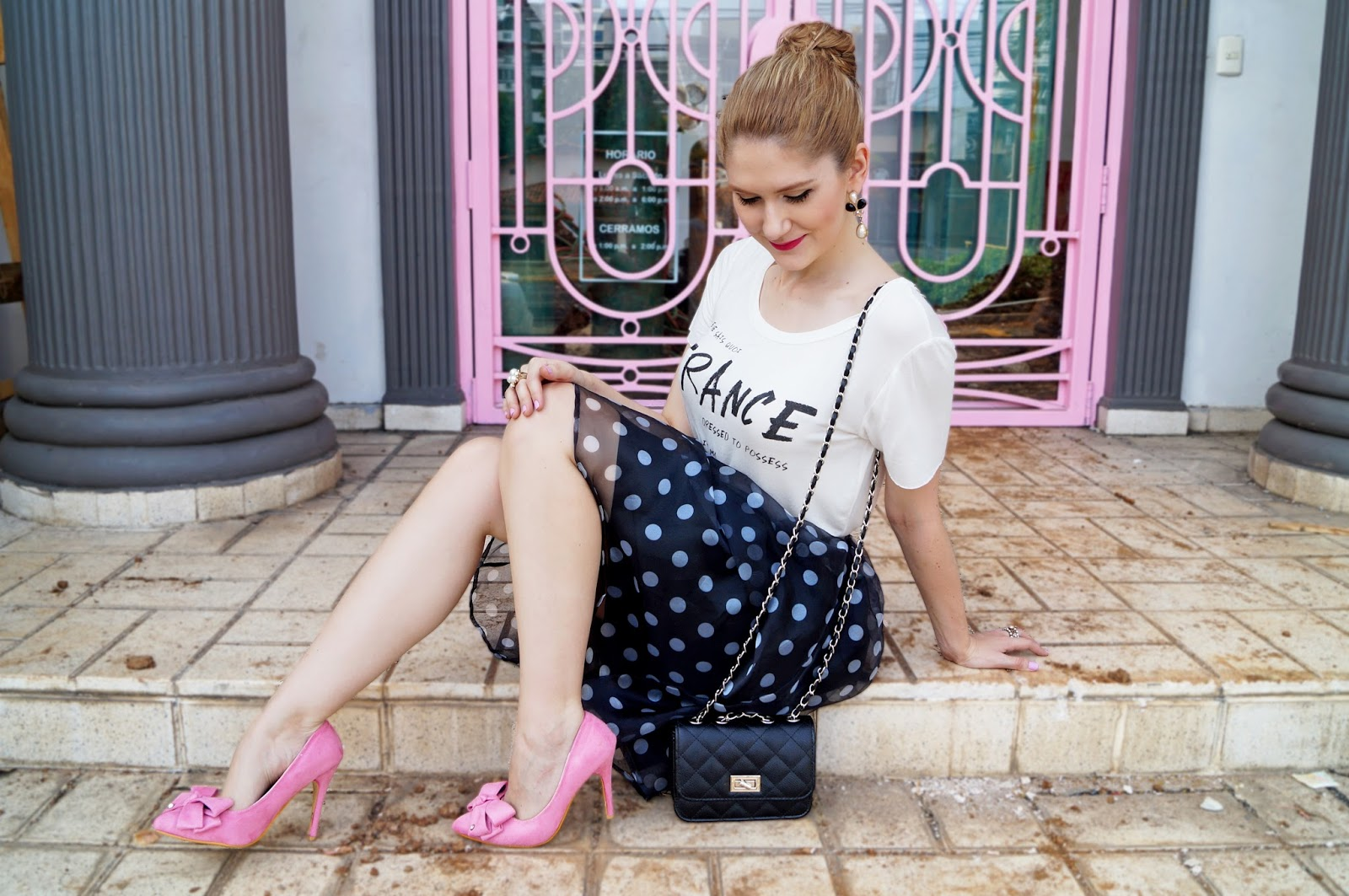 Girly Outfit with a touch of pink