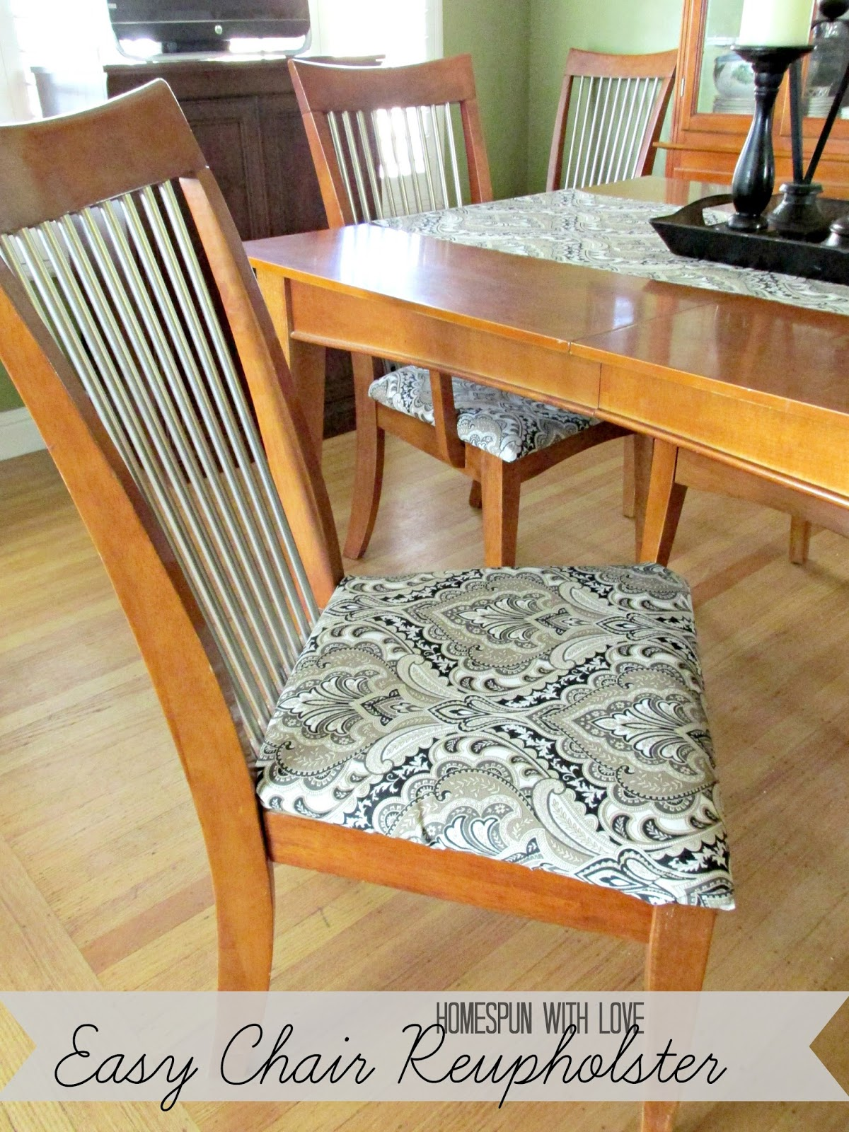 How To Diy Reupholster A Chair Giant Bean Bag Pattern Homespun With Love Easy