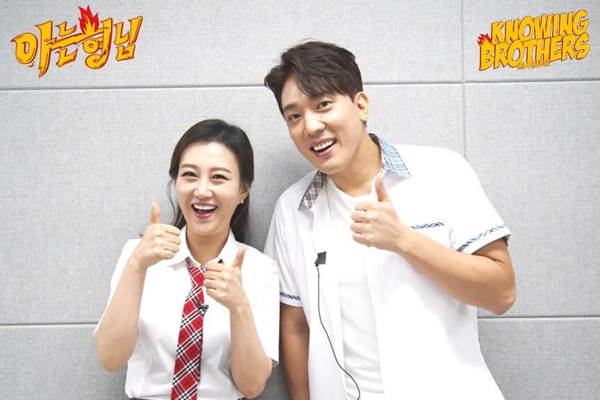 Nonton streaming online & download Knowing Brothers episode 185 bintang tamu Jang Yun-jeong & Kim Hwan sub Indo