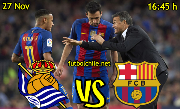 Ver stream hd youtube facebook movil android ios iphone table ipad windows mac linux resultado en vivo, online: Real Sociedad vs Barcelona