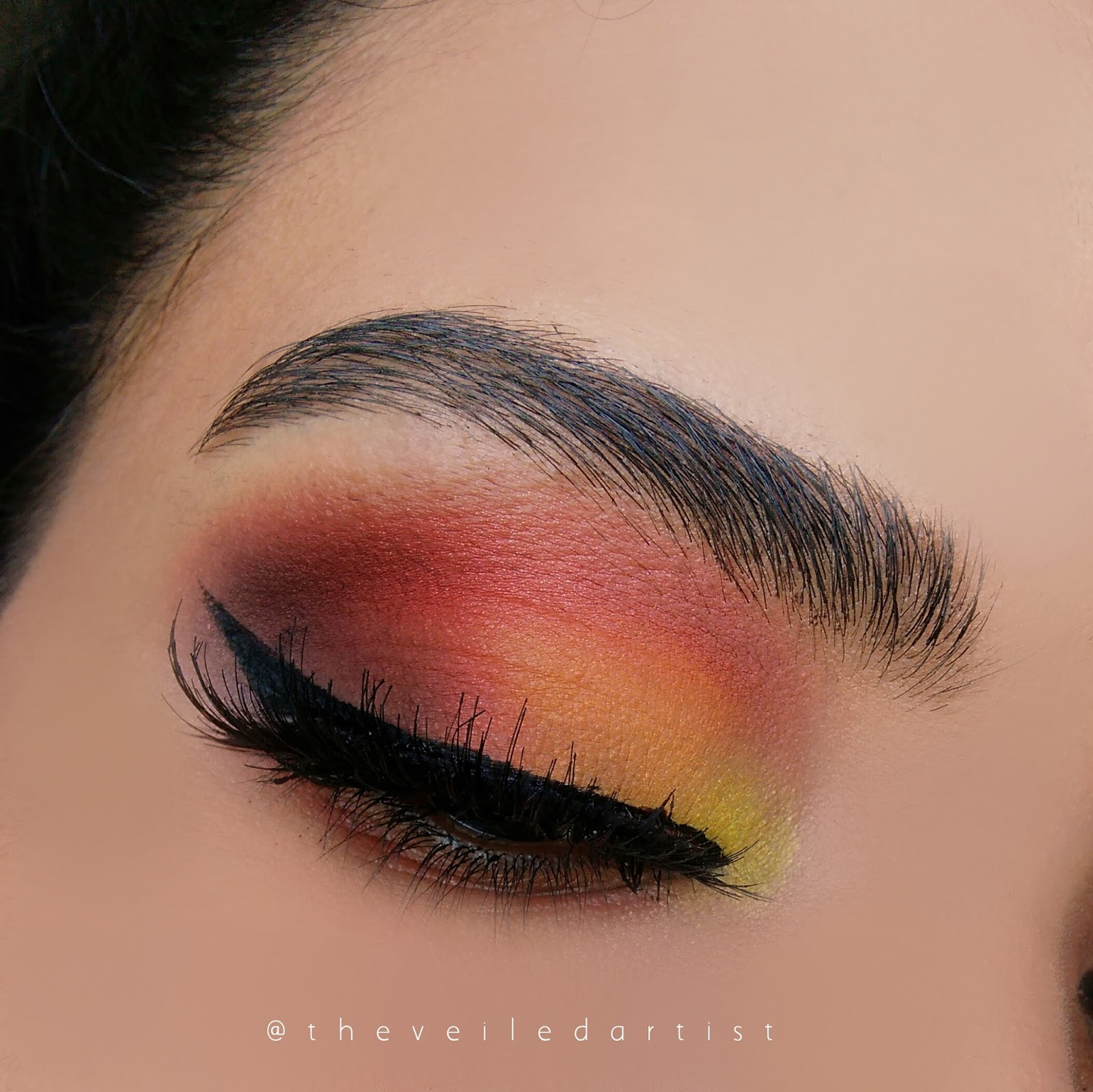 Ombre Sunset Matte Smokey Eyes Tutorial Beginner Friendly The