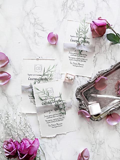 Wedding Wednesday | DIY Vintage Inspired Deckled Edge Invitations | labellesirene.ca