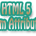 Form Attributes of HTML 5