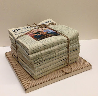 wedding planning - cake - newspaper cake cake - day of wedding planner - Philadelphia PA