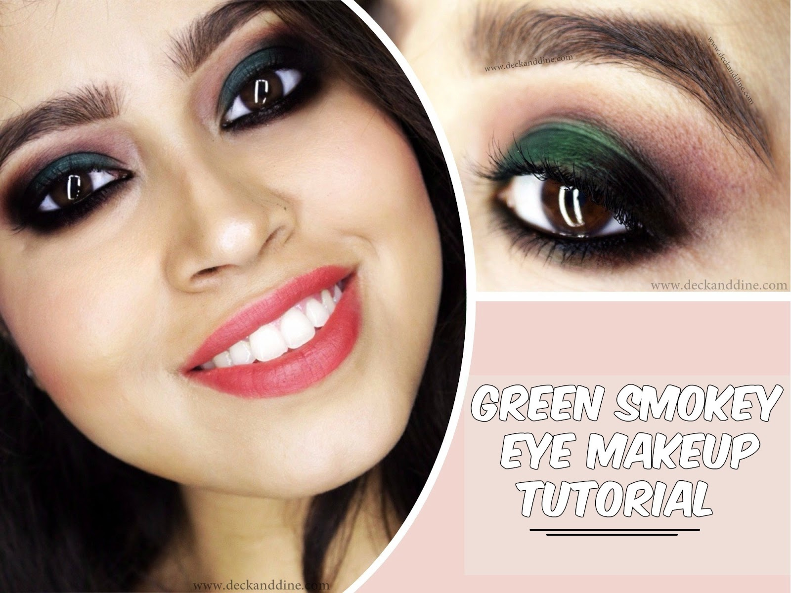 Quick, Simple and Easy Green Smokey Eye Makeup Tutorial
