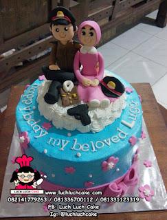 Kue Tart Ulang Tahun Polisi dan Bhayangkari