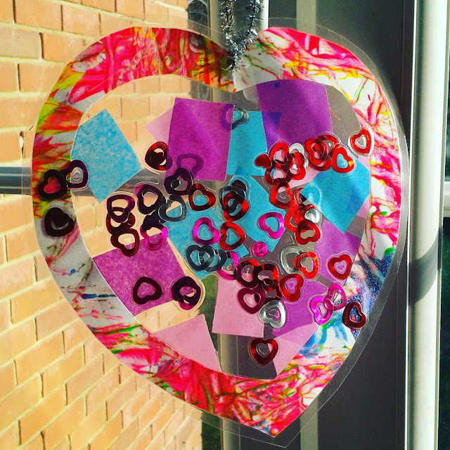 Cute heart suncatchers