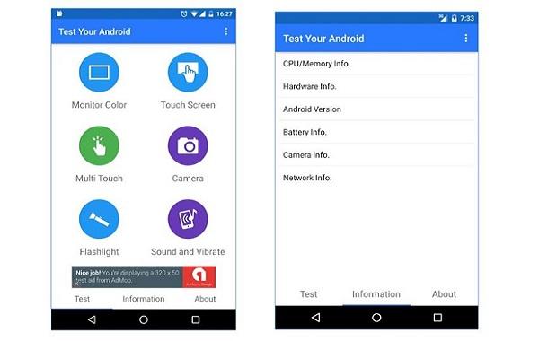 تطبيق أكثر من رائع لإختبار جميع مكونات هاتفك و معرفة هل تعمل بشكل جيد أم لا