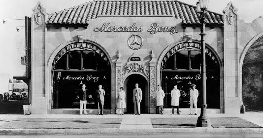 Just a car guy a 1920s mercedes benz dealership in la for Mercedes benz los angeles dealers