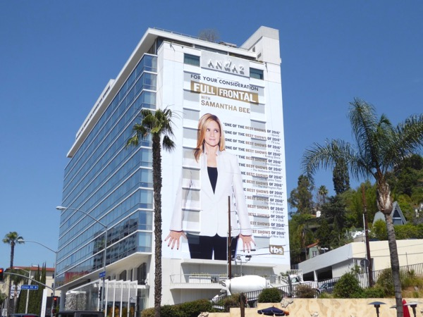 Giant Full Frontal Samantha Bee 2017 Emmy FYC billboard